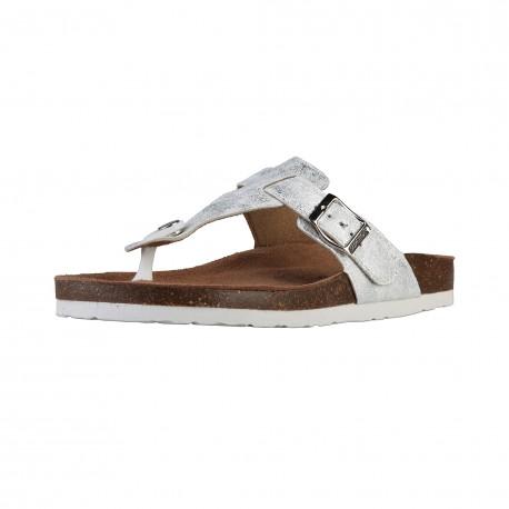 Sandales femmes SUPERGA S11P563 tissu, argent