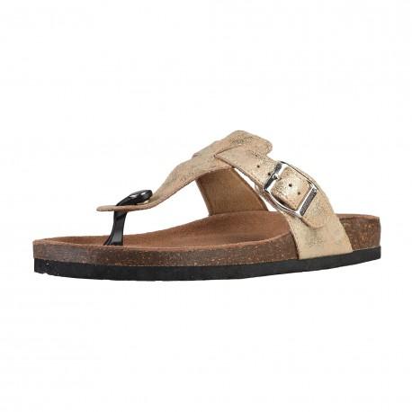 Sandales femmes SUPERGA S11P563 tissu coloris or