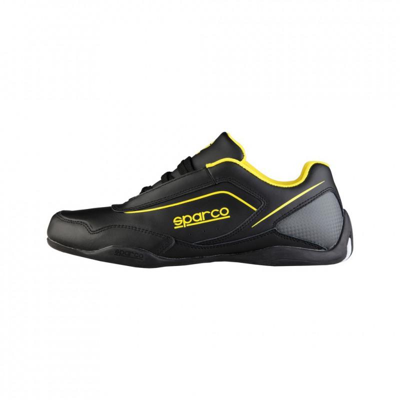 chaussure sparco mod u00e8le jerez  en cuir synderme  noir et jaune