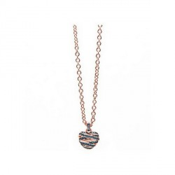 Collier GUESS, pendentif coeur, collection Rose gold UBN21611