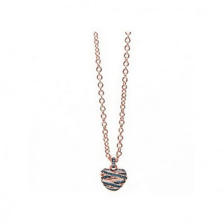 Collier GUESS, pendentif coeur, collection Rose gold