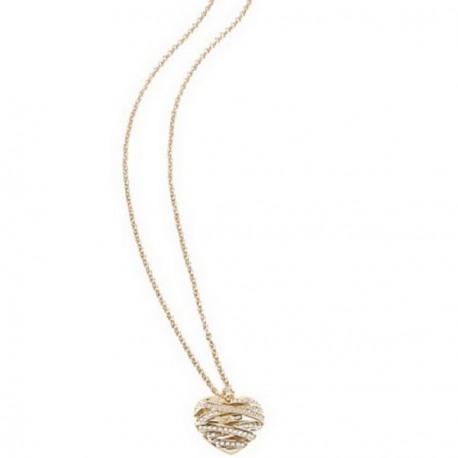Collier GUESS, pendentif coeur, métal doré