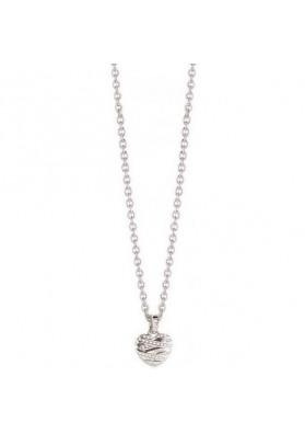 Collier GUESS, pendentif coeur, argent fantaisie, UBN21608