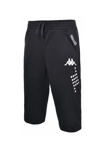 Pantalon 3/4, homme kappa, modèle vega, noir