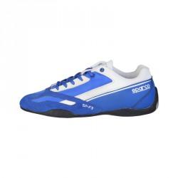 Sneakers Sparco SP-F3 bleu, en cuir
