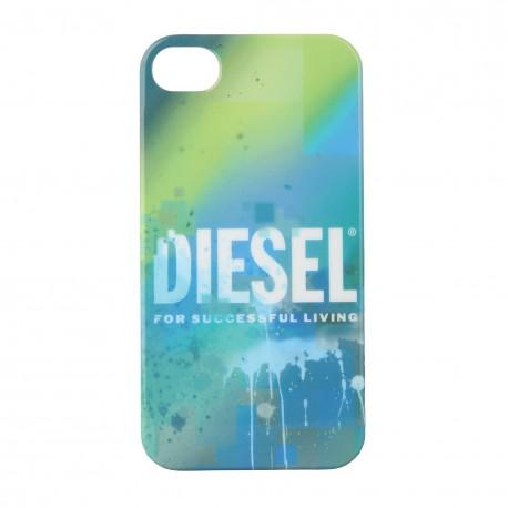 Coque étui DIESEL pour iPhone 4 / 4S, impression IML, modèle Météorite dégradés bleu vert