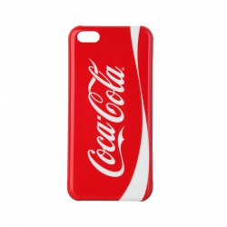 Coque étui Coca-Cola Logo Coke pour iPhone 5C, impression IML, coloris rouge / blanc