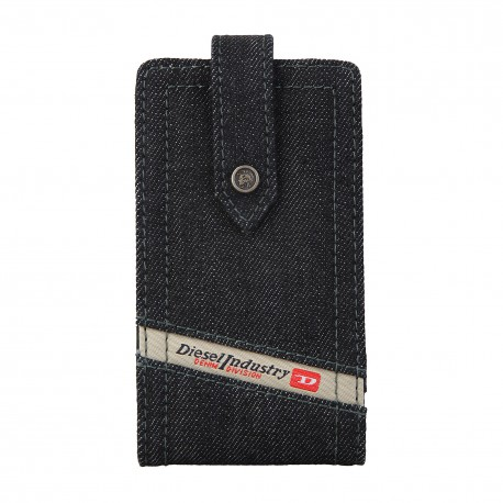 Coque étui Diesel The Diesel Industry pour iPhone 3 / 3G / 3GS / 4 / 4S, tissus jeans, coloris gris