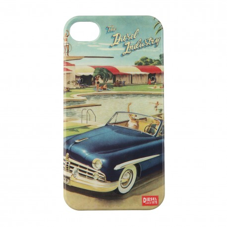 Coque étui Diesel The Diesel Industry pour iPhone 4 / 4S, impression IML, 50's Post card