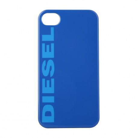 Coque étui Diesel pour iPhone 4 / 4S, impression IML, coloris bleu avec logo Diesel bleu turquoise